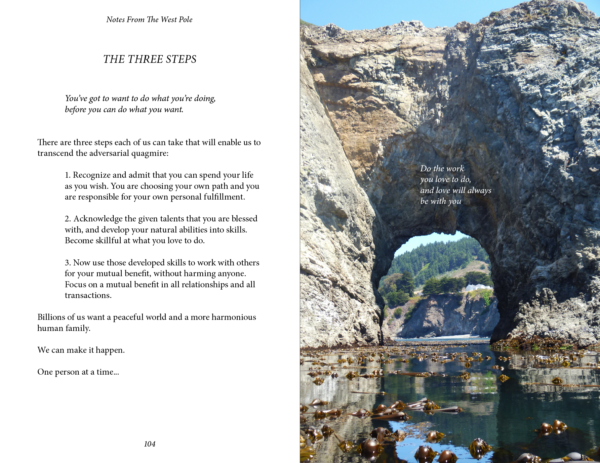 Page 104 and 105, Notes From The West Pole, Peter Wells